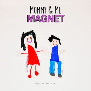 Laminated Mommy & Me Magnet Craft - Handmade Gift Idea for Mother's Day