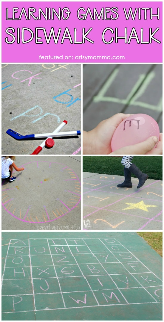 Hands-on Learning Games to do with Sidewalk Chalk (List)