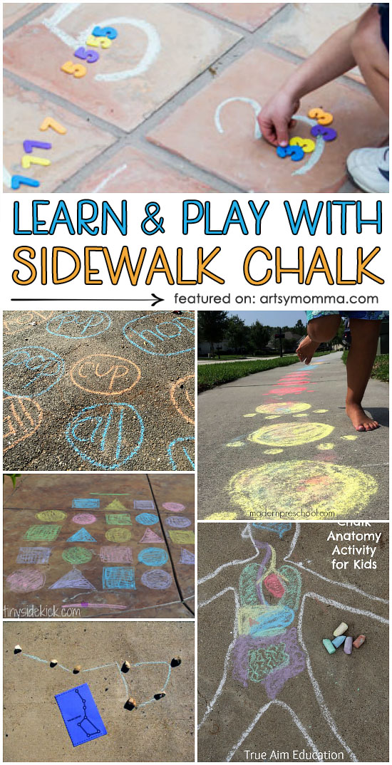 Ways to Play and Learn with Sidewalk Chalk Outdoors