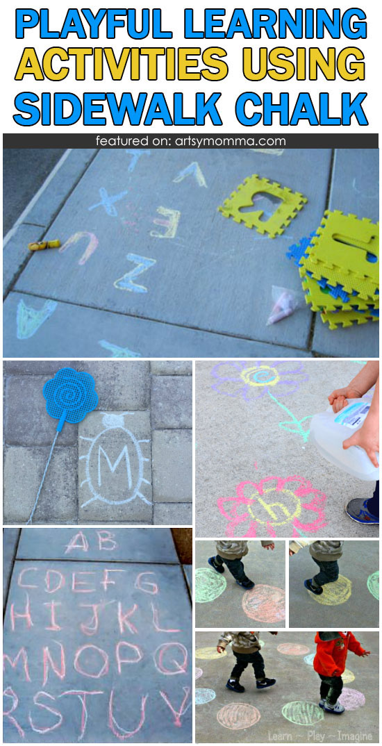 Playful Learning Activities Using Sidewalk Chalk Outdoors