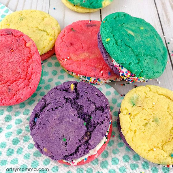 How to Make Funfetti Unicorn Cookie Sandwiches