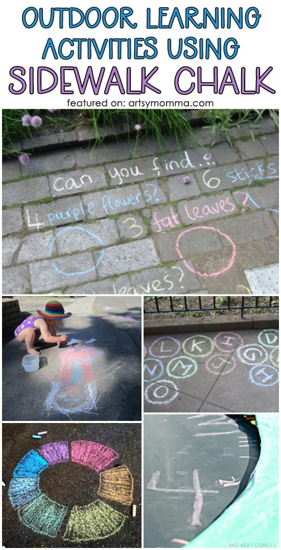 Lots of Fun Outdoor Learning Activities Using Sidewalk Chalk