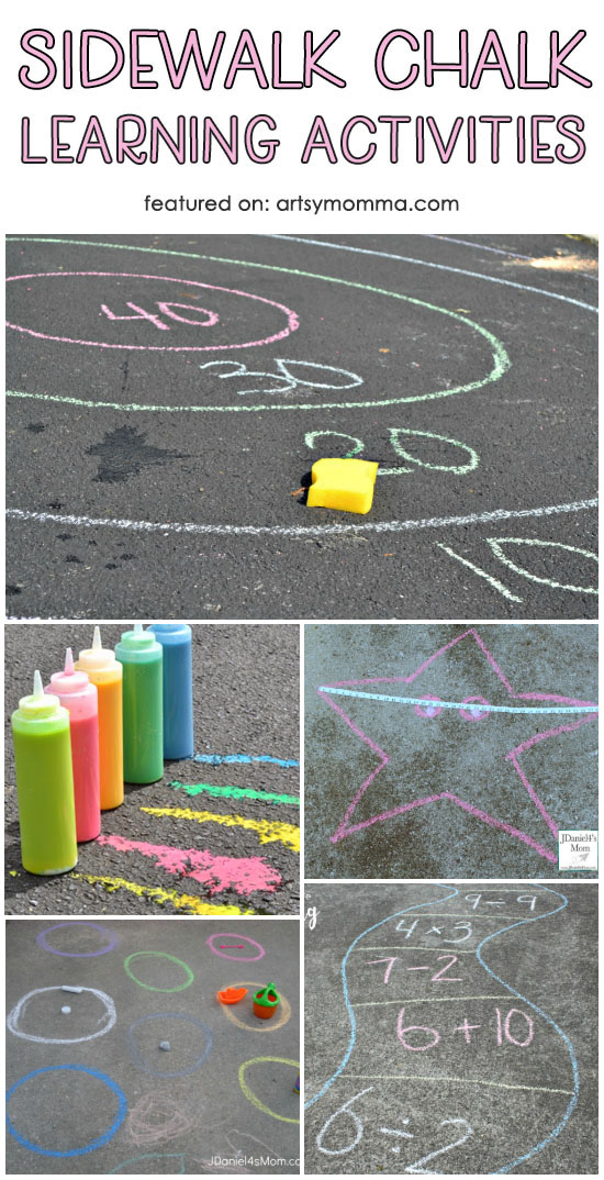 Fun List of Sidewalk Chalk Learning Activities