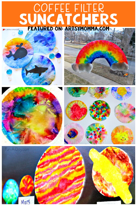 Coffee Filter Suncatchers - Cheap Craft Ideas for Kids