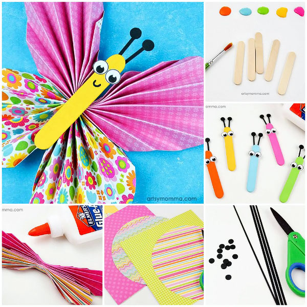 Accordion Fold Paper Butterfly Craft for Tweens