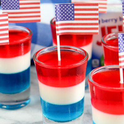How To Make Non-Alcoholic Red, White, And Blue Layered Jello Shooters for Kids