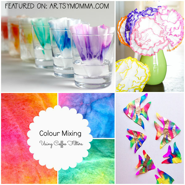 Inexpensive Coffee Filter Arts And Crafts For Kids To Make