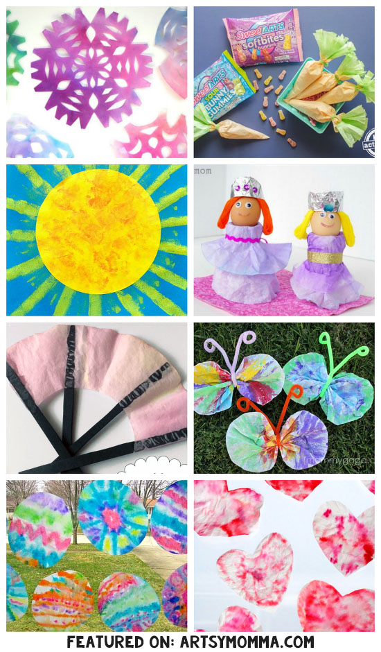 Coffee Filter Crafts to Make All Year Long for All Seasons