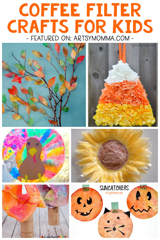 Holiday Themed Coffee Filter Crafts: Halloween & Fall Ideas for Kids