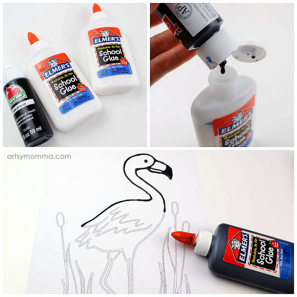 How To Make Black Glue For Art Projects: Combine Glue & Black Paint