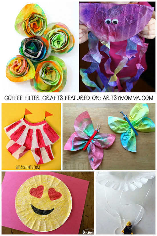 Inexpensive Crafts for Kids Using Coffee Filters