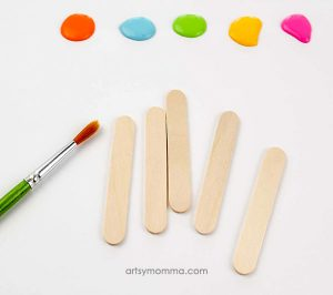 Paint the Craft Sticks in bright colors