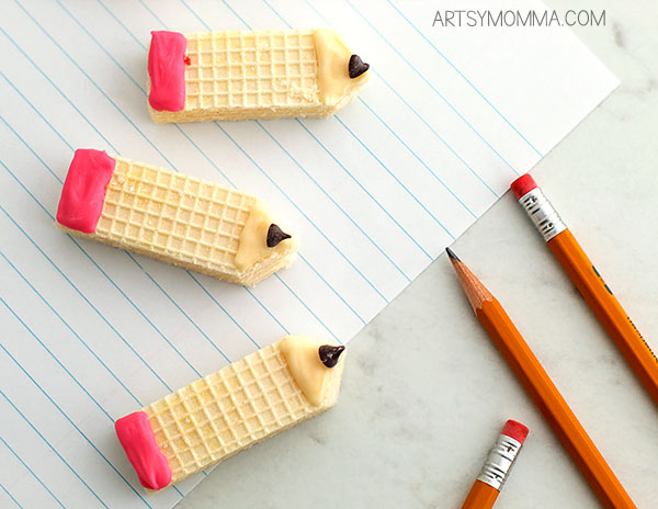 Back To School Pencil Cookies Made From Wafers