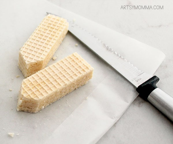 How to make wafer cookies shaped like No. 2 Pencils
