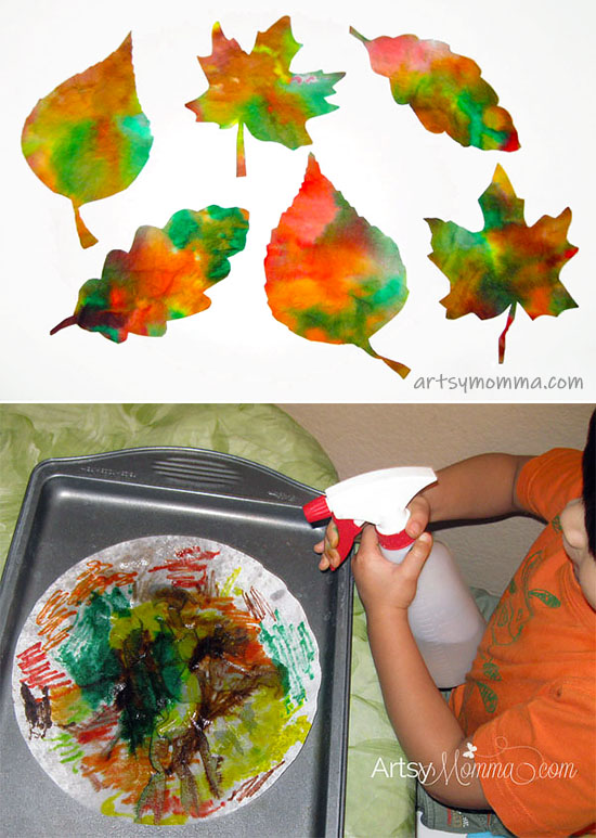 asy Fall Leaf Suncatcher Made From Coffee Filters