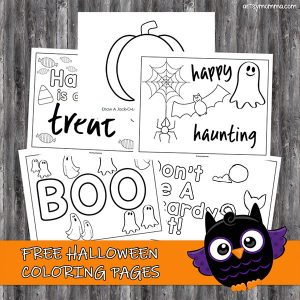 Free Free Printable Halloween Coloring Pages For Preschoolers ... | 300x300