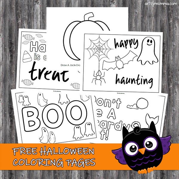 Halloween Coloring Sheets: Free Printable Halloween Coloring Pages | 600x600