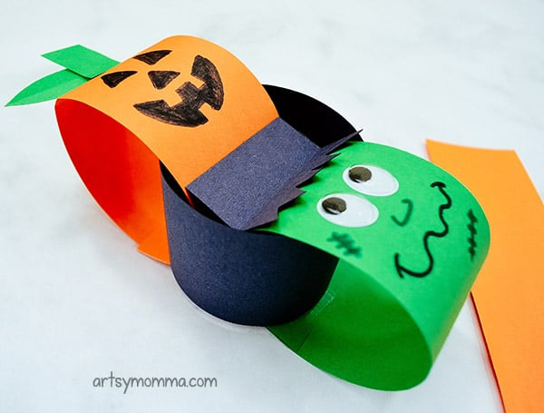 Paper Chain Halloween Characters Decoration