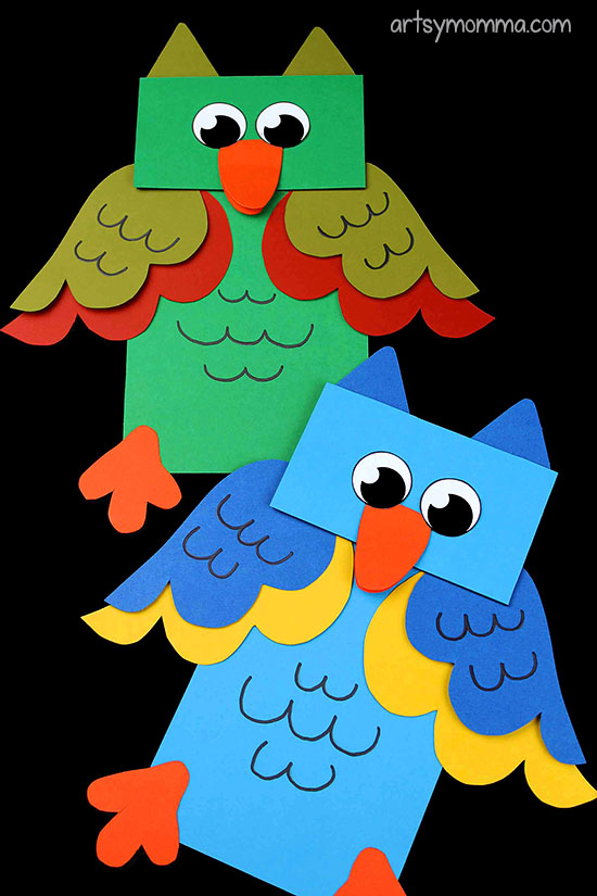 How To Make A Paper Bag Owl Craft Puppet for Imaginative Play