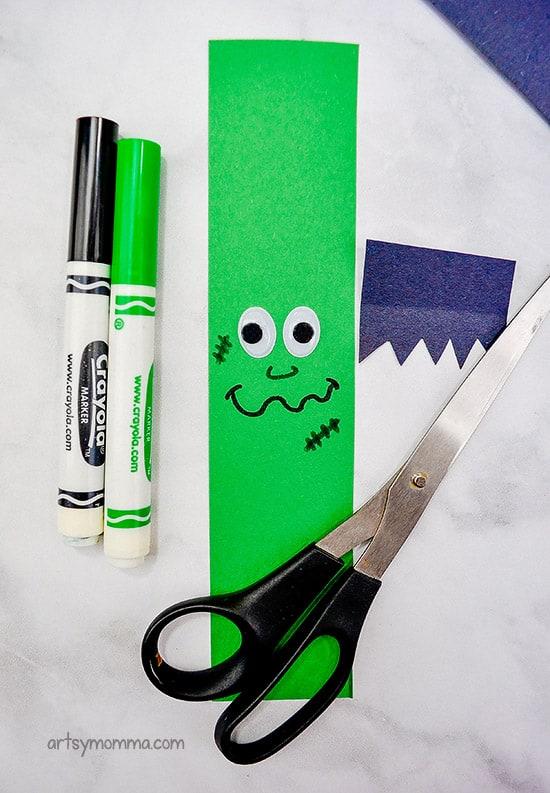 Green Strip with Frankenstein Face