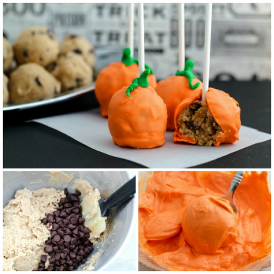 Easy Gluten Free Pumpkin Cookie Dough Cake Pops