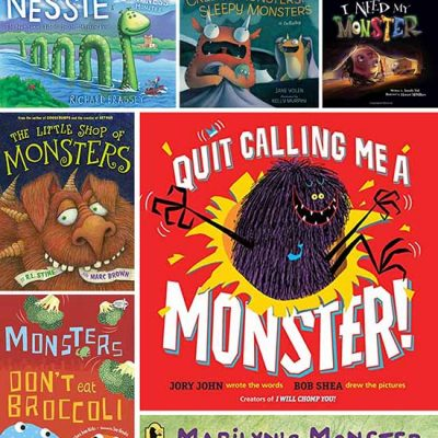 Kids Monster Book List + Craft And Activity Suggestions
