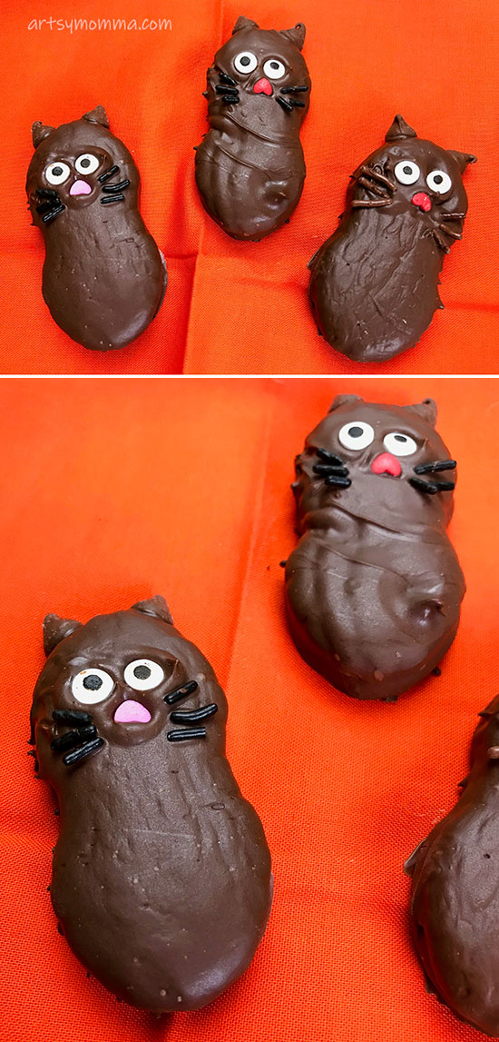 Nutter Butter Halloween Treats For Kids Party: Black Cat Cookies Tutorial