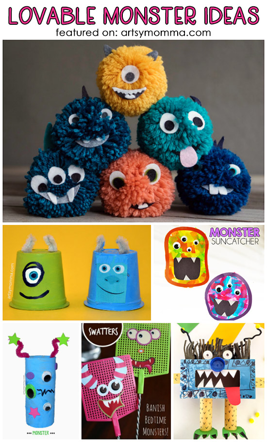 Lovable Monster Crafts For Kids Artsy Momma