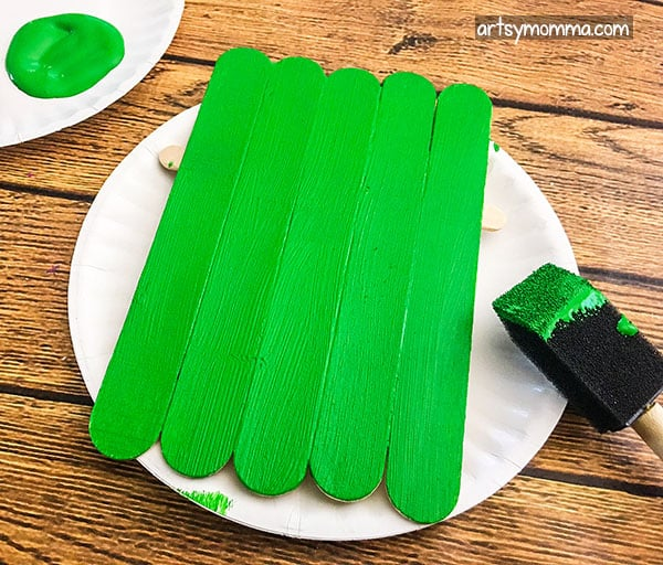 Easy Frankenstein Popsicle Stick Craft For Halloween Artsy
