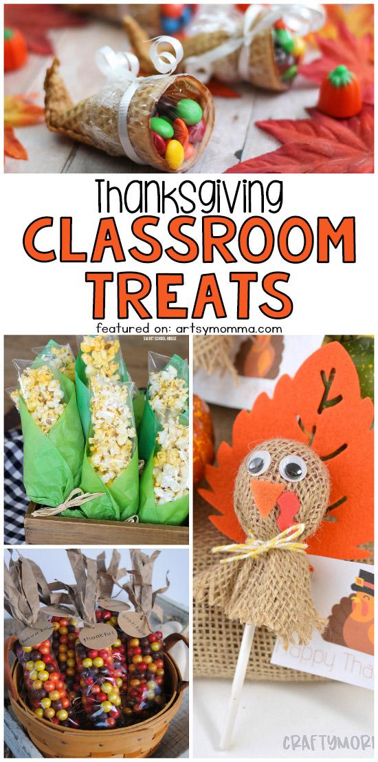 Cute Thanksgiving Classroom Treats