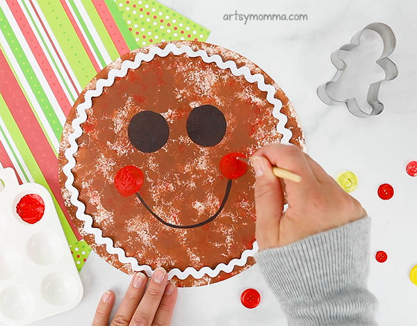 Paint Rosy Red Cheeks On The Gingerbread Plate Craft