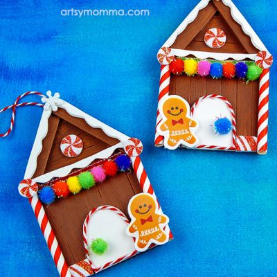Cute Gingerbread House Ornament Craft For Tweens