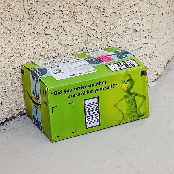 Amazon's Holiday Grinch Box Packaging