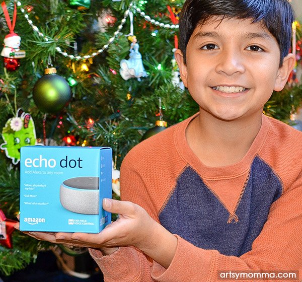 Stocking Stuffer Idea For Tech Savvy Kids: Echo Dot