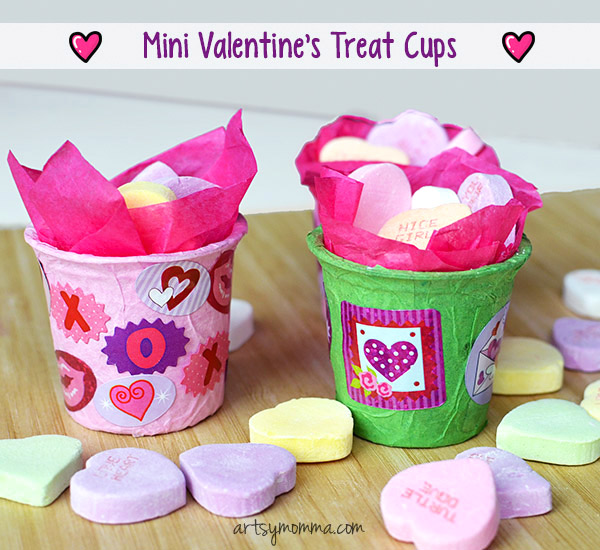 Cute Mini Treat Cup Valentine Party Favors Tutorial