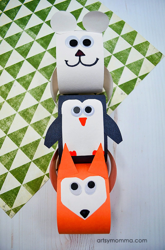 How to make a Winter animals paper chain