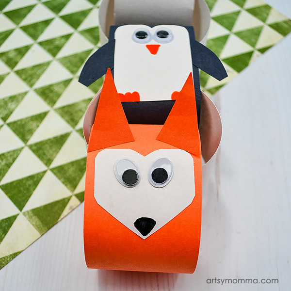 Paper Chain Fox Craft - Attach below penguin