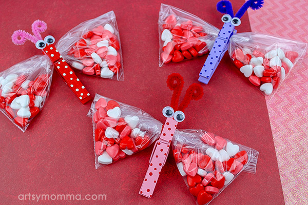 Candy Valentines Shaped Like Butterflies