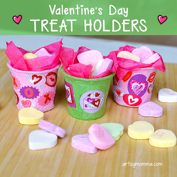 Conversation Heart Treat Holders Made From Recycled K Cups