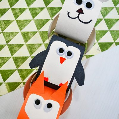 Easy Winter Animals Paper Chain Craft For Kids To Make