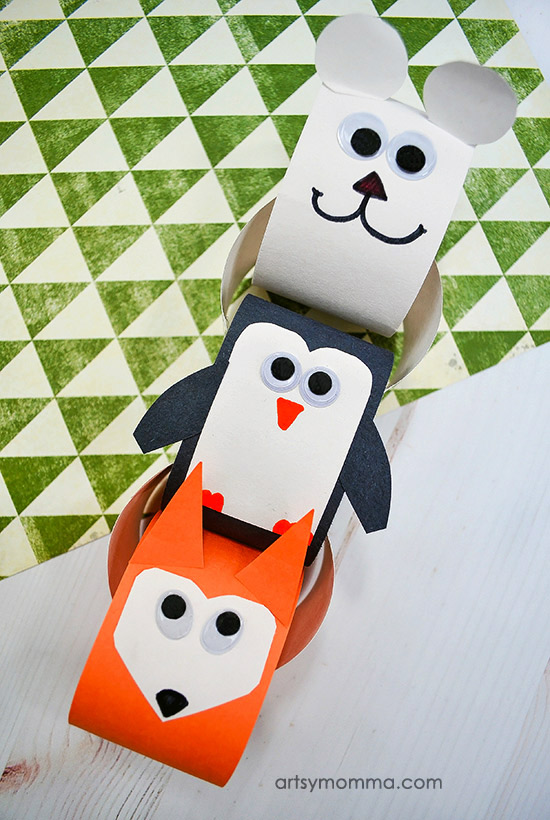 Winter Animal Paper Chain Craft For Kids To Make