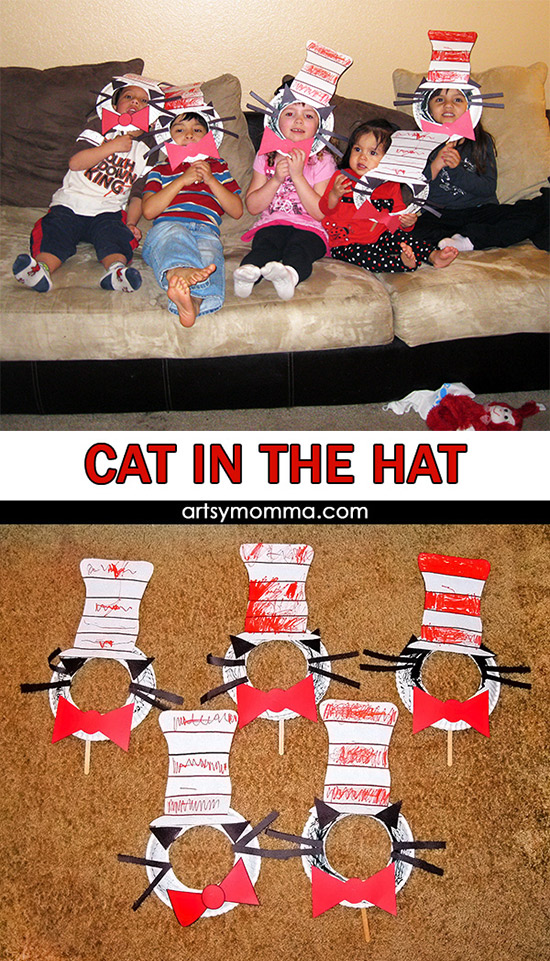 Fun Cat in the Hat Movie Playdate - fun crafts and party food ideas for celebrating Dr. Seuss's birthday & Read Across America!