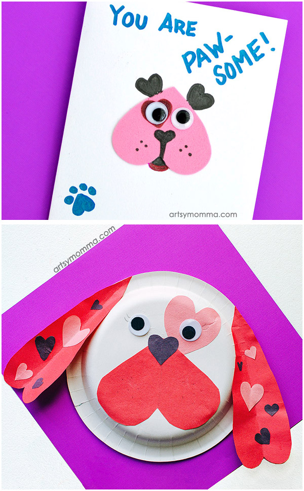 Cute Heart Shaped Dog Crafts For Kids To Make