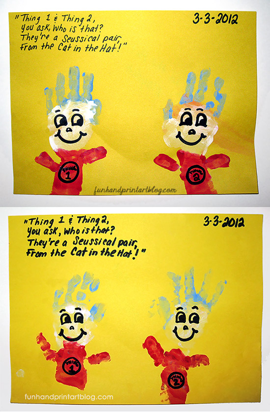 Thing 1 and Thing 2 Handprint Art Projects