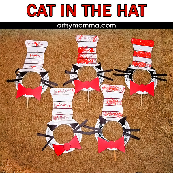 Fun Cat In The Hat Crafts And Ideas For A Movie Playdate Artsy Momma