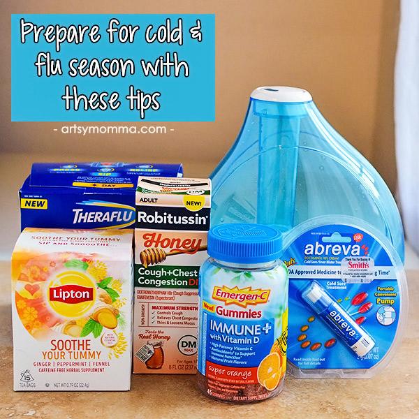 Prepare for cold & flu season with Robitussin, Abreva, Theraflu, Lipton, & Emergen-C