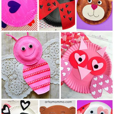 The Cutest Valentine's Day Paper Plate Animals Made With Heart Shapes