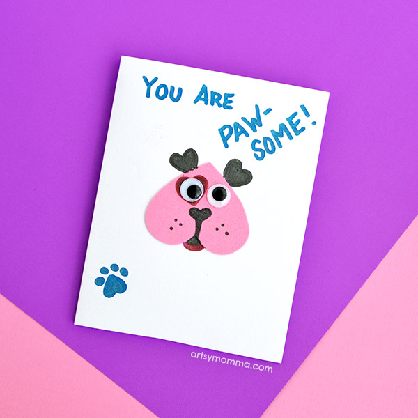 Heart Shaped Puppy Card Craft