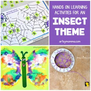 Fun Bug Themed Learning Activities For Preschoolers & Kindergartners