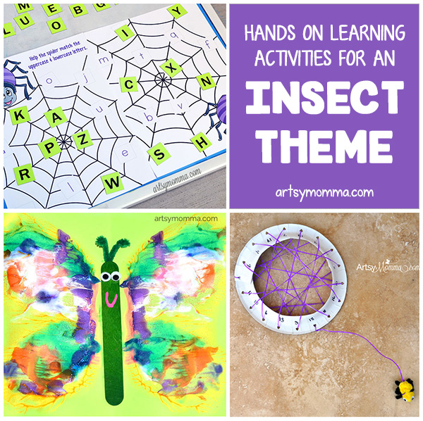 Fun Learning Activities For An Insect And Bug Theme Artsy Momma